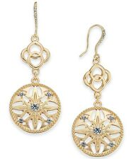 Charter Club Gold-Tone Crystal Double Drop Earrings