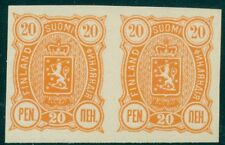 FINLAND #41 (30) 20pen orange, Imperf PROOF PAIR, without gum, VF