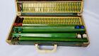 RARE Green Dovetail Bakelite Mahjong Set 144 Carved Tiles (Estate Sale) VINTAGE