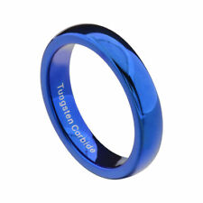 4mm Blue Tungsten High Polish Comfort Fit Women's Jewelry Wedding Band