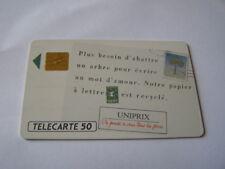 telecarte uniprix papier recyclé 50u ref phonecote F149