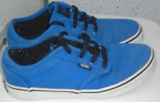 JUNIOR VANS ATWOOD LOW TRAINERS UK 3 EUR 35 BLUE CANVAS SHOES SNEAKERS PUMPS