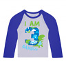 Personalised I am 3 Dinosaur Birthday Baseball Top Third Birthday Custom Dino