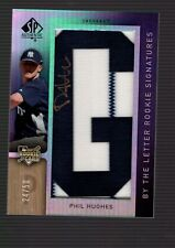 New listing 2007 SP Authentic PHIL HUGHES Rookie By The Letter AUTOGRAPH Auto Jersey /50