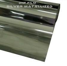 """2 PLY REFLECTIVE SILVER MIRROR WINDOW TINT 15% 60"""" X 100 FEET: FREE DNF SQUEEGEE"""