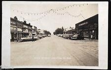 c. 1953 DRAYTON, ND, MAIN STREET SCENE, HAMM'S BEER, COCA-COLA POSTCARD RPPC