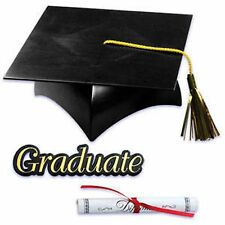 Graduation Cap Hat Diploma Graduate Sign Cake Kit Cupcake Toppers  Decorations