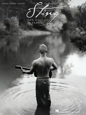 Sting The Best Of 25 Years Learn to Play Fragile Piano Guitar PVG Music Book