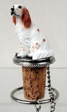 English Setter Orange Belton Dog Wine Stopper