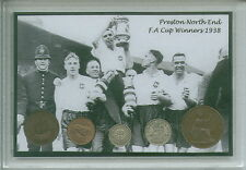 Preston North End PNE Vintage F.A Cup Final Winners Coin Fan Cased Gift Set 1938