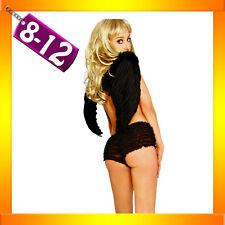 Ladies Black Ruffle Boyleg Boyshorts Panties 8 10 12