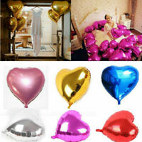 "5pcs 10"" / 18"" Love Heart Foil Helium Balloons Wedding Party Birthday Decoration"