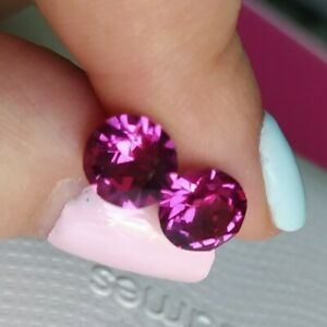 Unwanted gift Swarovski Crystal Elements pink Stud Earrings Large New