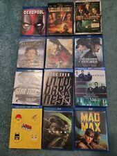 Action Movies Lot of 15 Blu-Ray/Dvd, Star Trek, Mad Max, Pirates, Matrix, 300