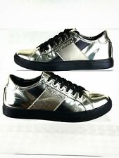 Armani Gold Mirrored Chrome Sneakers Size 40 UK 6.5 Trainers