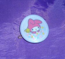 SANRIO Vintage MY MELODY hair clip JAPAN 1983 purple glossy pearl CUTE RARE