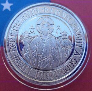 2021 Samoa ALPHA & OMEGA BU silver coin .999 fine silver