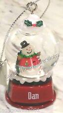 Personalized Snow Globe Ornament - Dan - FREE Shipping