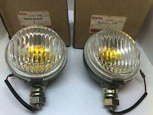 Toyota Land Cruiser FJ40 BJ40 FJ43 Fog Light Lamp Set 81210-60010 Genuine NOS