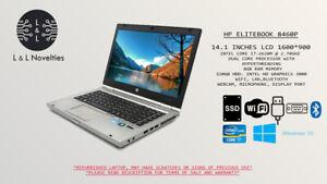 "HP ELITEBOOK 8460P 14"" INTEL CORE I7 8GB 320GB HDD WIFI/BT/CAM WIN10 P"
