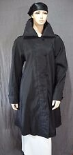 Mycra Pac Black Reverses to Bronze Hooded Below Knee Rain Coat Size S M Worn 1 X