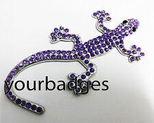 Gem Stone Gecko Lizard Car Badge Chrome Metal Badge