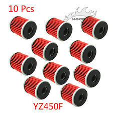 10x Oil Filter For Yamaha XT250 YZ250F VP125 X-CITY XG250 TRICKER YP125R X-MAX