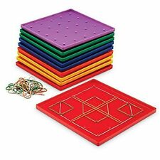 """Learning Resources Classpack Geoboard 5 X 5 Plastic 7"""" 10-Pk (No Rubberbands)"""
