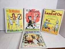 Lot Wizard of oz By L. Frank Baum 4 Book Set Reily & Lee Co. HardCover 1956 Ed.