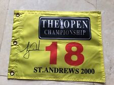 Open Championship St. Andrews Pin Flag  w/ Tiger Woods