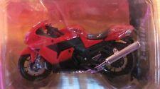 Maisto Adventure Wheels 1:18 HONDA ZX-14 NINJA motorcycle modelNOS  red