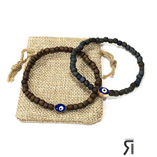 2 Blue Evil Eye Protection Charm Bracelets By Ruigos MeN Women Evil Eye Bracelet