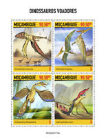 Mozambique Flying Dinosaurs Stamps 2020 MNH Prehistoric Animals Pteranodon 4v MS