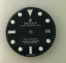 CUSTOM MADE ROLEX GMT MASTER II DIAL IN BLACK FOR STAINLESS STEEL MODELS
