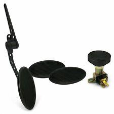 Oval Firewall Mnt Gas Pedal, Sm Oval Brake/Clutch/Dimmer Pad ~  Black Billet