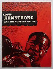 Louis Armstrong Original 1950's Jazz Concert Program