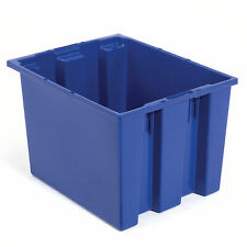 Stack And Nest Shipping Container No Lid 23 12x15 12x12 Blue Lot Of 3