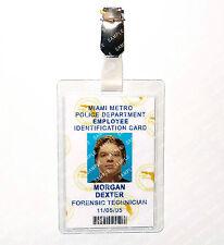 Dexter Morgan ID Badge Forensics Detective Cosplay Prop Costume Gift Comic Con