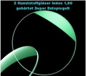 2 Lenti Occhiali 1,60 Sottile Indurito Super Anti-riflettente Lotus IN Germania