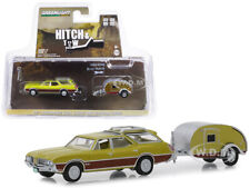 1971 OLDSMOBILE VISTA CRUISER & TEARDROP TRAVEL TRAILER 1/64 GREENLIGHT 32170 A