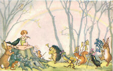 "Medici Society Postcard,PK 216,""Springtime Greeting"",Fairy,Rainbow,Molly Brett"