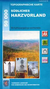 Wanderkarte Südliches Harzvorland mit Kyffhäusergebirge und Hainleite; Blatt 56