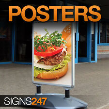 A-Board Pavement Sign Poster Printing A0, A1, A2, A3, A4 poster prints