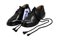 Ghillie Brogues Black Leather Ghillie Brogues Scottish Kilt Shoes UK Sizes 7-12