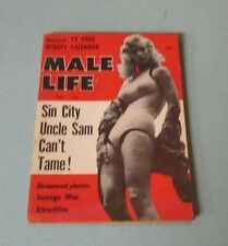 December 1956 Male Life Pinup Girl Magazine Beauty Calendar Mitzi Doerre Photos