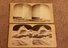 Stereograph StereoView Photo Cards Underwood & Undwerwood Old Faithful, Rapids