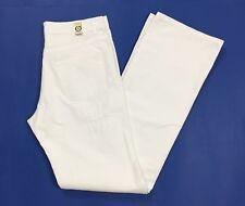Gaudi jeans uomo usato bianco pantalone w34 tg 48 gamba dritta boyfriend T942