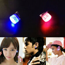 LED Earrings Light Up Bling Ear Studs Blue Red Flash Accessories Men WomenC3B