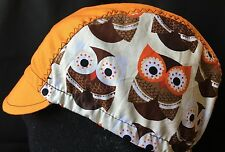 "Cycling Cap El TECOLOTE ""owl"" one Size Hand Made  100% cotton"