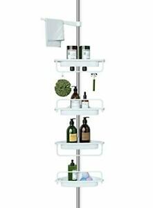 Constant Tension Corner Shower Caddy Rustproof Strong and Sturdy Adjustable New